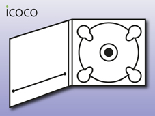 Digipack, 4-seitig, Booklet 1 mm